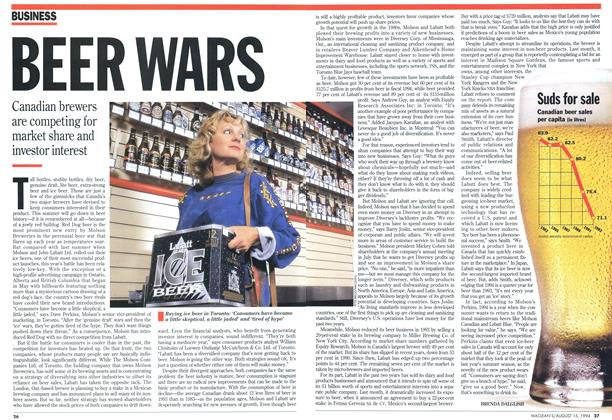 Article Preview: BEER WARS, August 1994 | Maclean's