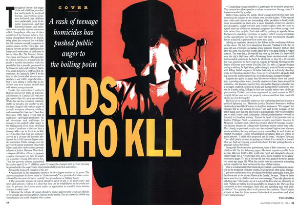 Article Preview: KIDS WHO KILL, August 1994 | Maclean's