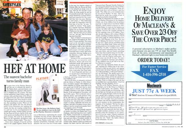 Article Preview: HEF AT HOME, August 1994 | Maclean's