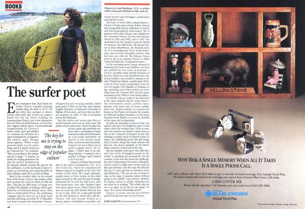 Article Preview: The surfer poet, August 1994 | Maclean's