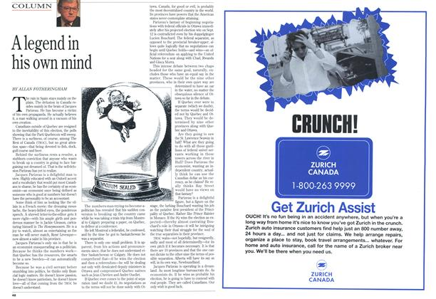 Article Preview: A legend in his own mind, August 1994 | Maclean's