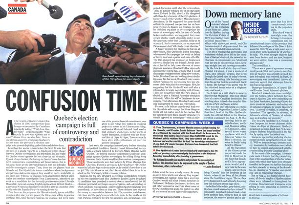 Article Preview: CONFUSION TIME, August 1994 | Maclean's