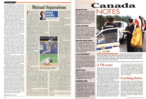 Article Preview: Mutual Separatism, August 1994 | Maclean's