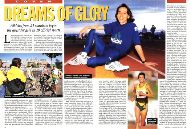 Article Preview: DREAMS OF GLORY, August 1994   Maclean's