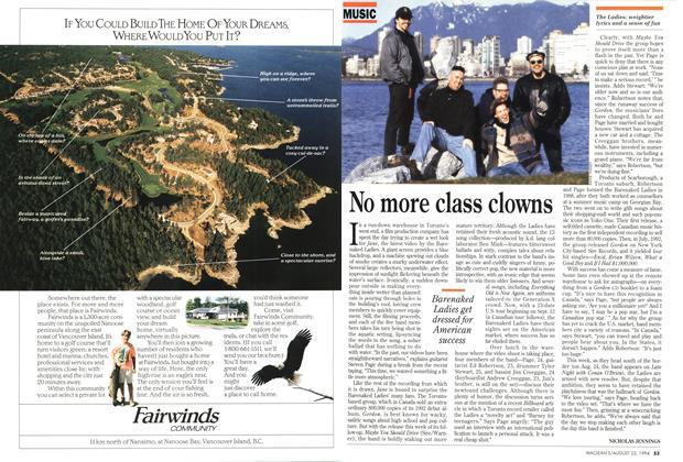 Article Preview: No more class clowns, August 1994 | Maclean's