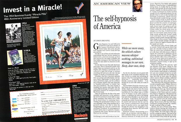 Article Preview: The self-hypnosis of America, August 1994   Maclean's