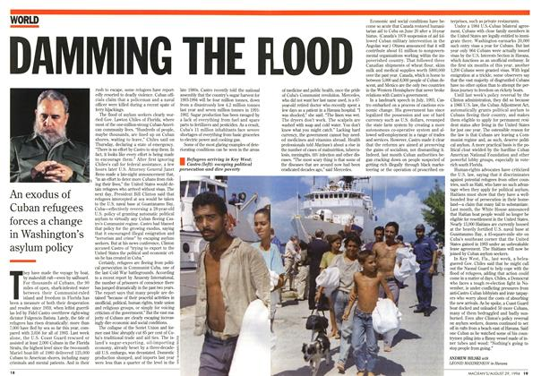 Article Preview: DAMMING THE FLOOD, August 1994 | Maclean's