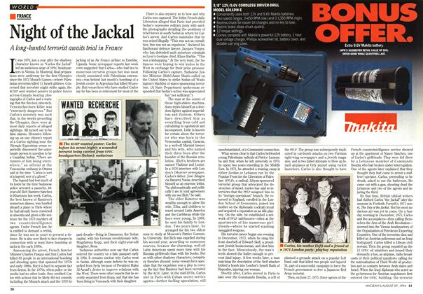 Article Preview: Night of the Jackal, August 1994 | Maclean's
