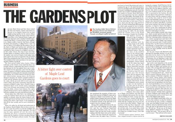 Article Preview: THE GARDENS PLOT, August 1994 | Maclean's