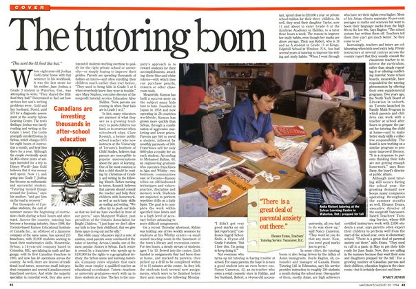 Article Preview: The tutoring boom, August 1994 | Maclean's