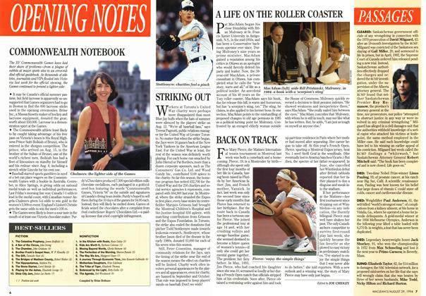 Article Preview: BACK ON TRACK, August 1994 | Maclean's