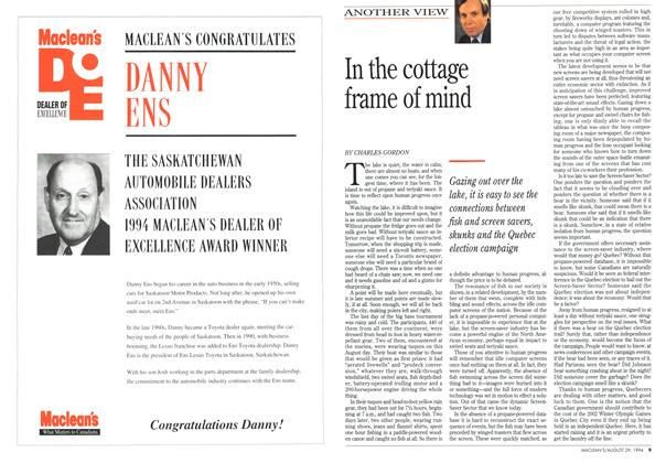 Article Preview: In the cottage frame of mind, August 1994 | Maclean's
