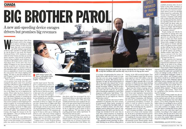 Article Preview: BIG BROTHER PATROL, August 1994 | Maclean's