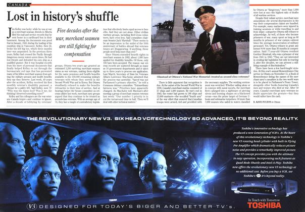 Article Preview: Lost in history's shuffle, August 1994 | Maclean's