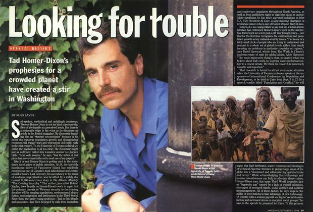 Article Preview: Looking for trouble, September 1994 | Maclean's