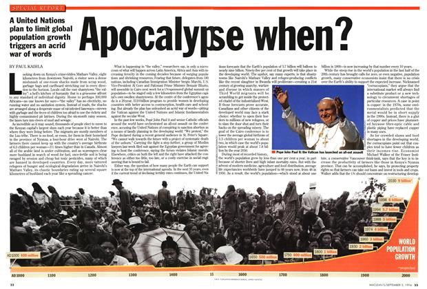 Article Preview: Apocalypse when?, September 1994 | Maclean's