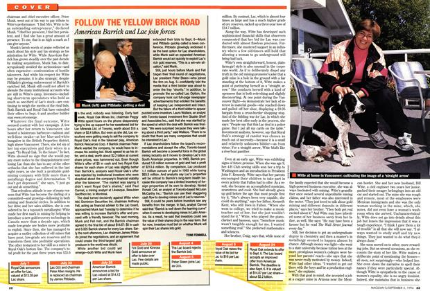 Article Preview: FOLLOW THE YELLOW BRICK ROAD, September 1994 | Maclean's