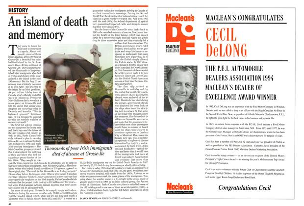 Article Preview: An island of death and memory, September 1994 | Maclean's
