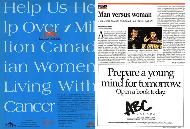 Article Preview: Man versus woman, September 1994 | Maclean's