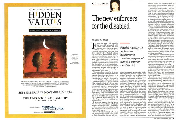 Article Preview: The new enforcers for the disabled, September 1994 | Maclean's