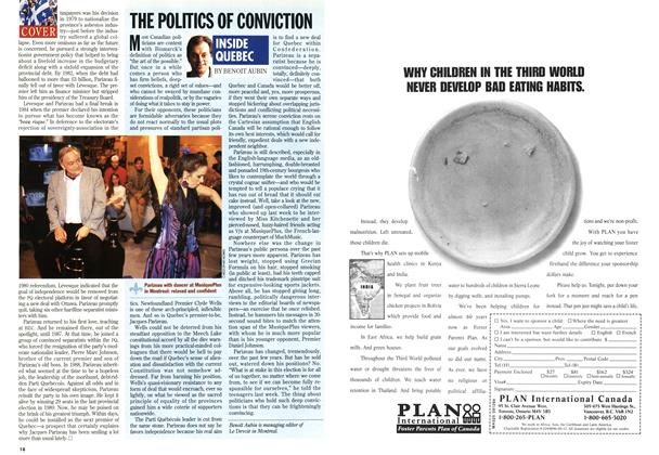 Article Preview: THE POLITICS OF CONVICTION, September 1994 | Maclean's