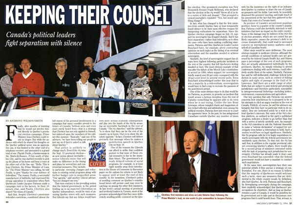Article Preview: KEEPING THEIR COUNSEL, September 1994 | Maclean's