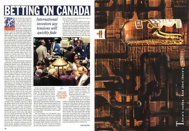 Article Preview: BETTING ON CANADA, September 1994 | Maclean's