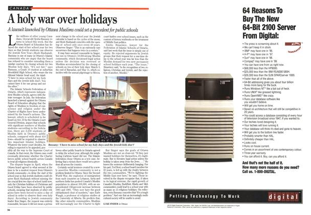 Article Preview: A holy war over holidays, September 1994 | Maclean's