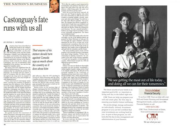 Article Preview: Castonguay's fate runs with us all, September 1994 | Maclean's