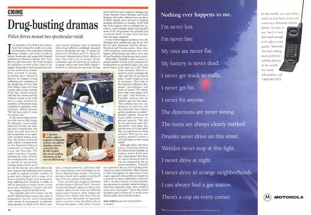 Article Preview: Drug-busting dramas, September 1994   Maclean's