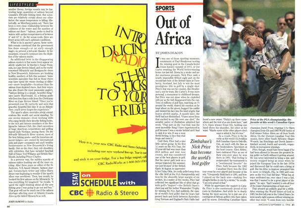 Article Preview: Out of Africa, September 1994 | Maclean's