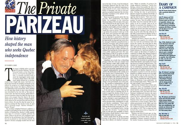 Article Preview: The Private PARIZEAU, September 1994 | Maclean's