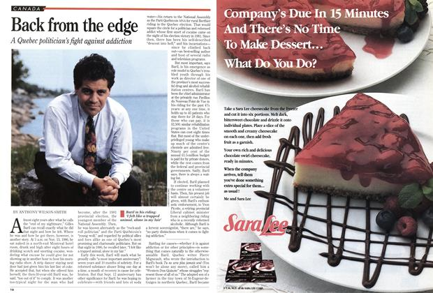 Article Preview: Back from the edge, September 1994 | Maclean's
