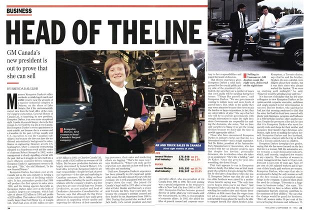 Article Preview: HEAD OF THE, September 1994 | Maclean's