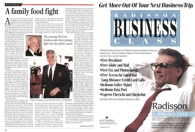 Article Preview: A family food fight, September 1994 | Maclean's