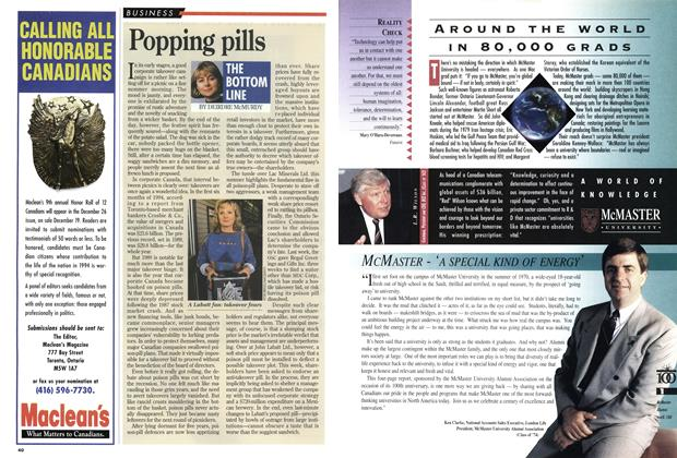 Article Preview: Popping pills, September 1994 | Maclean's