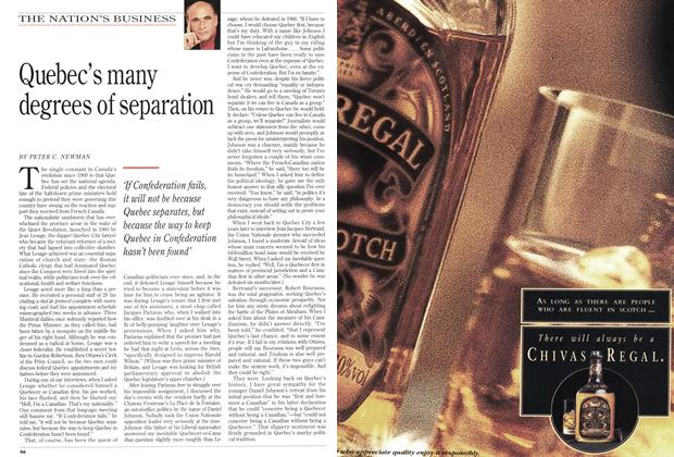 Article Preview: Quebec's many degrees of separation, September 1994 | Maclean's