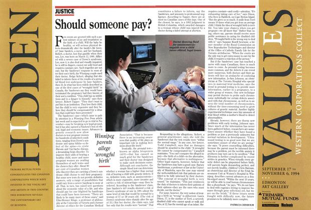 Article Preview: Should someone pay?, September 1994 | Maclean's