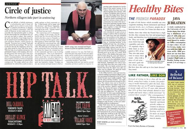 Article Preview: Circle of justice, September 1994   Maclean's
