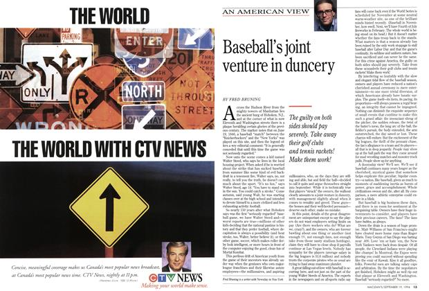Article Preview: Baseball's joint venture in duncery, September 1994 | Maclean's