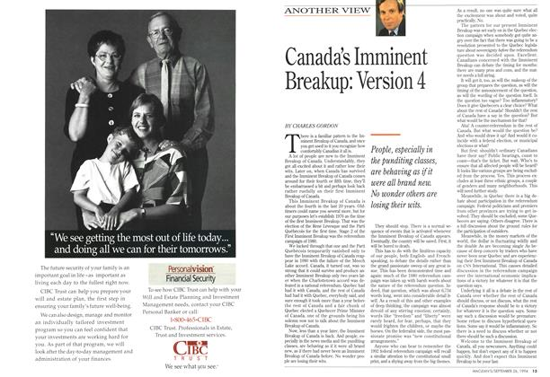 Article Preview: Canada's Imminent Breakup: Version 4, September 1994 | Maclean's