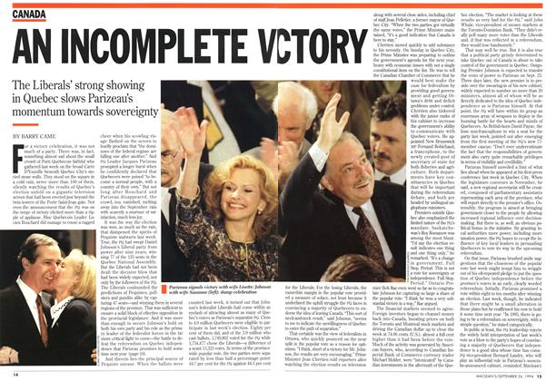 Article Preview: AN INCOMPLETE VICTORY, September 1994 | Maclean's