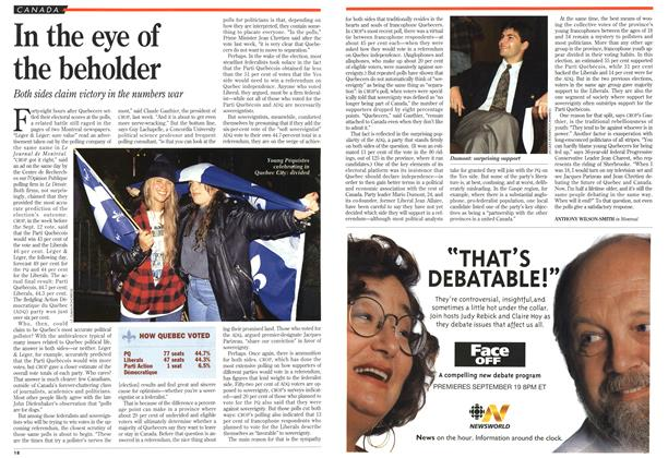 Article Preview: In the eye of the beholder, September 1994 | Maclean's