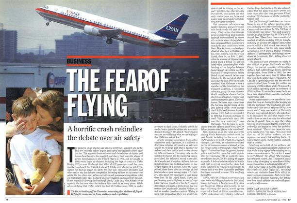 Article Preview: THE FEAR OF FLYING, September 1994 | Maclean's