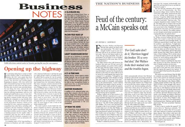 Article Preview: Feud of the century: a McCain speaks out, September 1994 | Maclean's