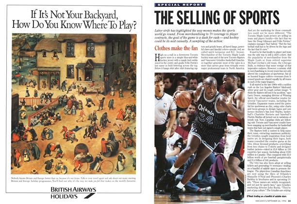 Article Preview: THE SELLING OF SPORTS, September 1994 | Maclean's