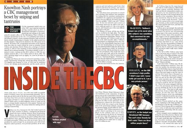 Article Preview: INSIDE THE CBC, September 1994 | Maclean's