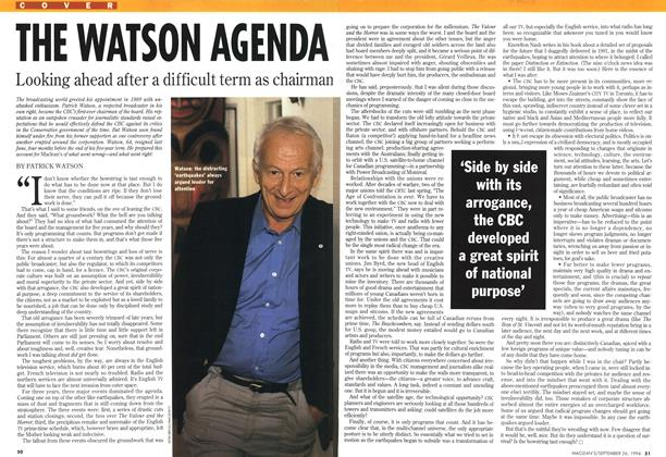 Article Preview: THE WATSON AGENDA, September 1994 | Maclean's