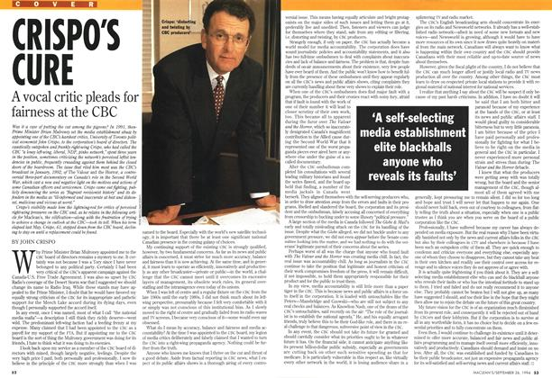 Article Preview: CRISPO'S CURE, September 1994 | Maclean's