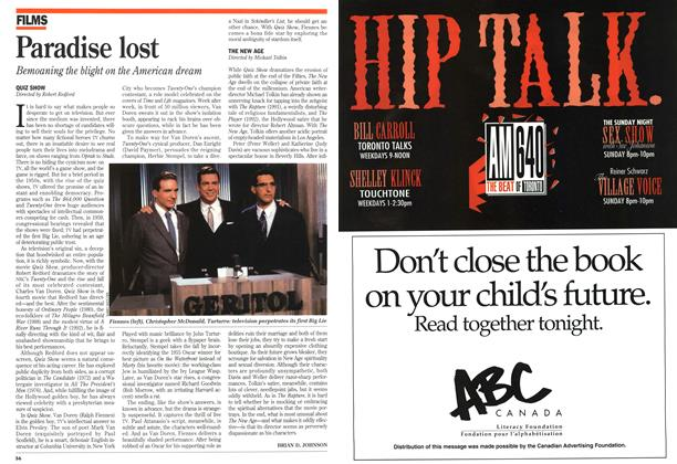 Article Preview: Paradise lost, September 1994 | Maclean's